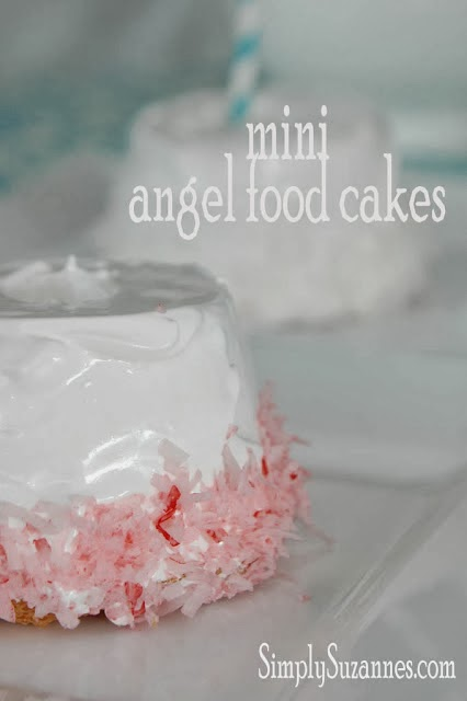 Mini Angel Food Cake Gf