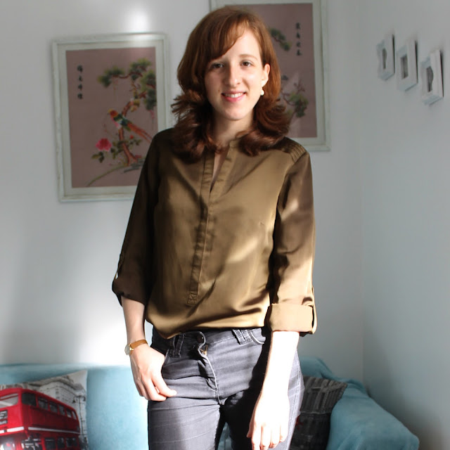 Instagram Catch Up Sunday Outfit Of The Day OOTD Silk Shirt