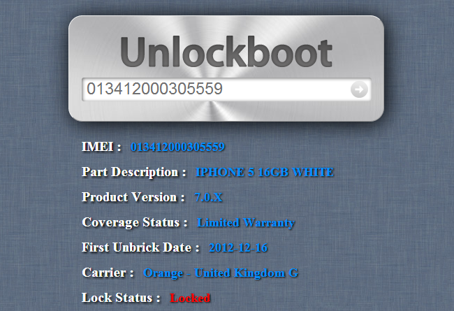 iPhone Unlock Check by IMEI