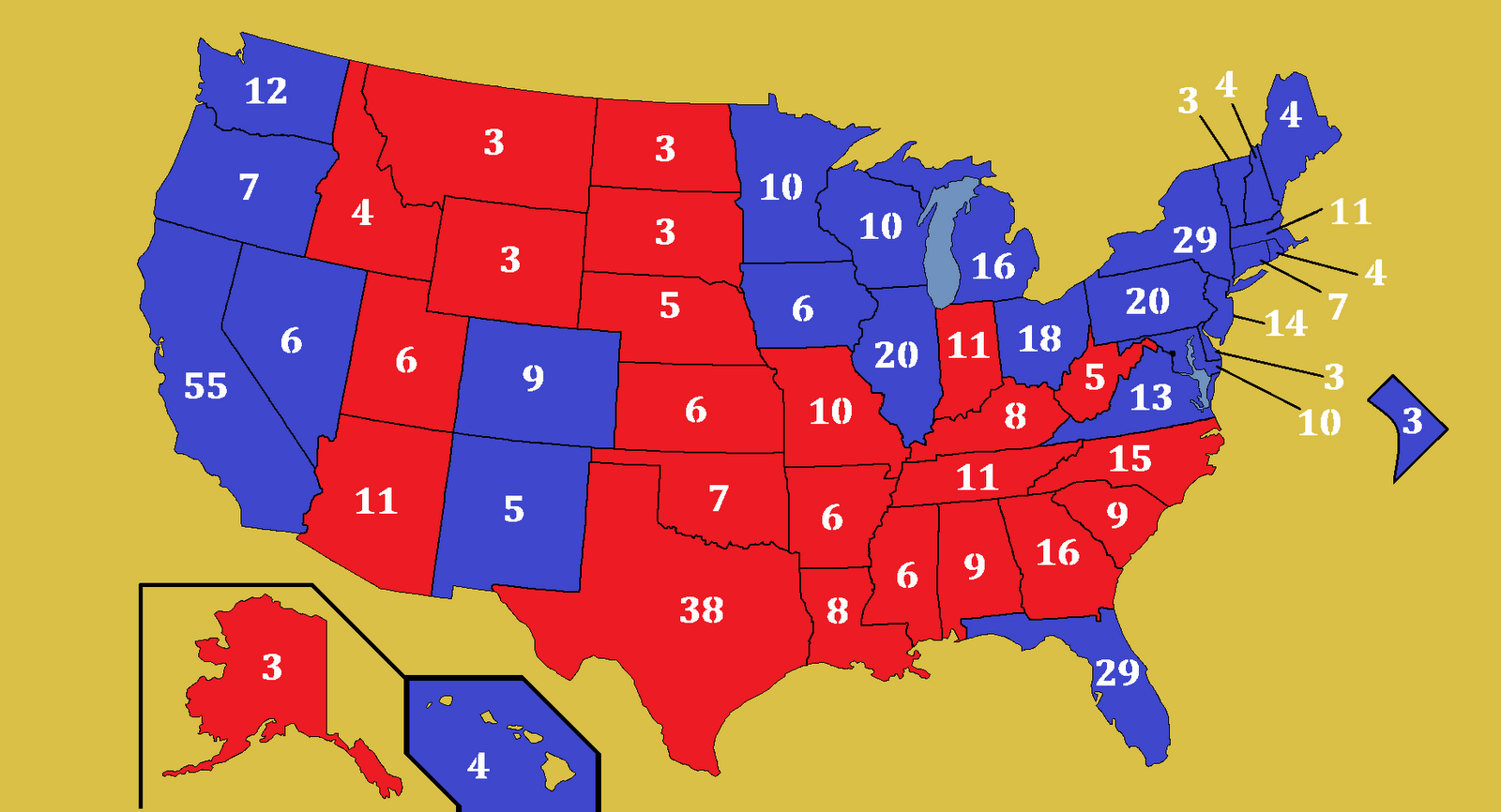 electoral college map 2010 - photo #8
