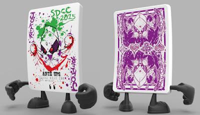 """San Diego Comic-Con 2015 Exclusive """"Squib Joker"""" Stud Vinyl Figure by Squid Kids Ink"""