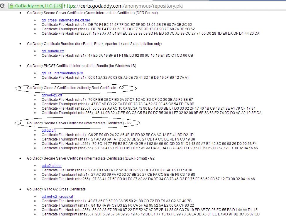 Nagaraja Yellapu\'s Blog: Installing Godady SSL Certificate keytool ...