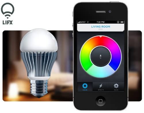 wifi enabled light bulb with your phone lifx. Black Bedroom Furniture Sets. Home Design Ideas