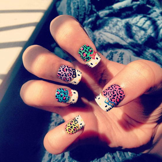 Simple leopard print nail designs pictures