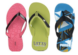Jabong:Buy Puma, UCB, Adidas & More Flip Flops Starting at Rs. 190 with Free Shipping