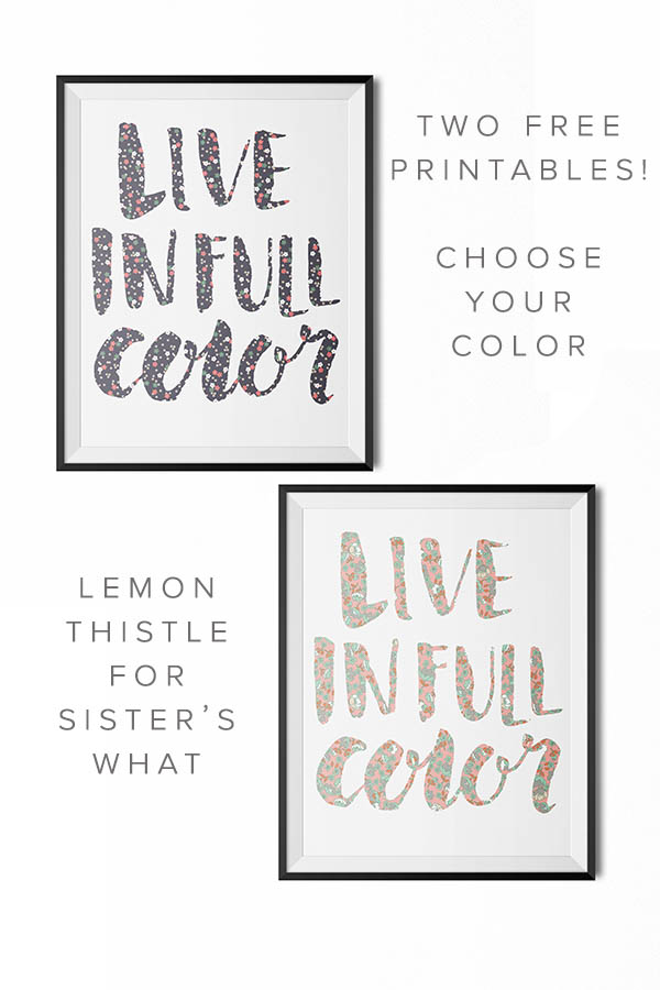 live in full color by lemon thistle