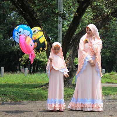13 Baju Gamis Syari Ibu Dan Anak Terbaru