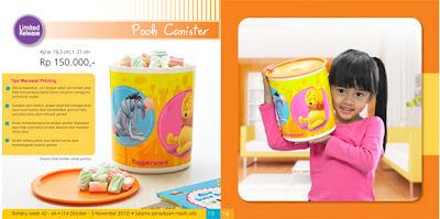 Tupperware Pooh Canister
