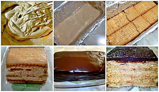 Preparación de la tarta de galletas