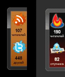 Виджет-информер социальных кнопок Simple Counters