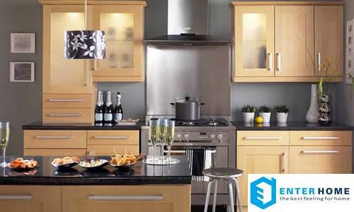 thiết kế bếp hợp lý nhất do enterhome tư vấn và thi công