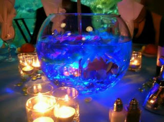 Weddings with fishes decorations
