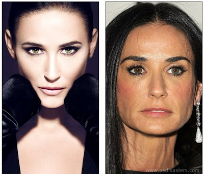 abuso de photoshop en demi moore