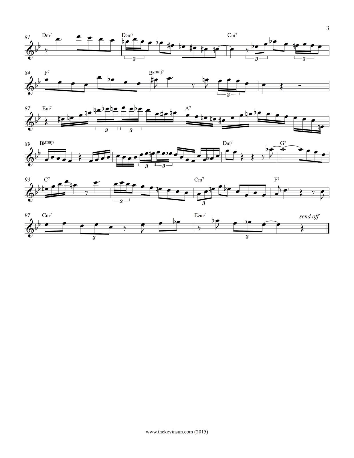 """Charlie Parker """"Groovin' High"""" Transcription Page 3"""