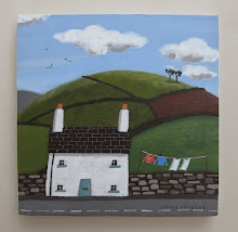 sophie harding - white house, blue gate and washing line