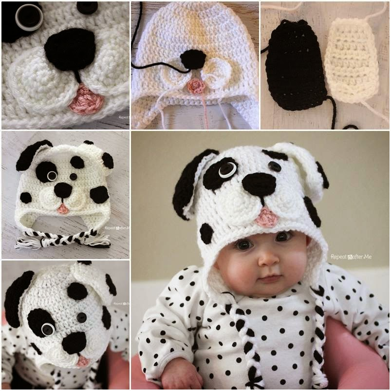 DIY Crochet Dalmatian Dog Baby Hat