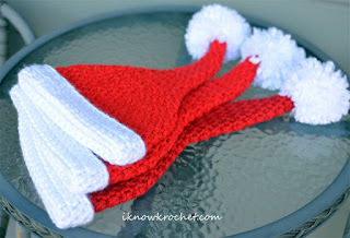 stacked Santa hats
