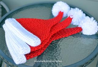 stacked Santa hats
