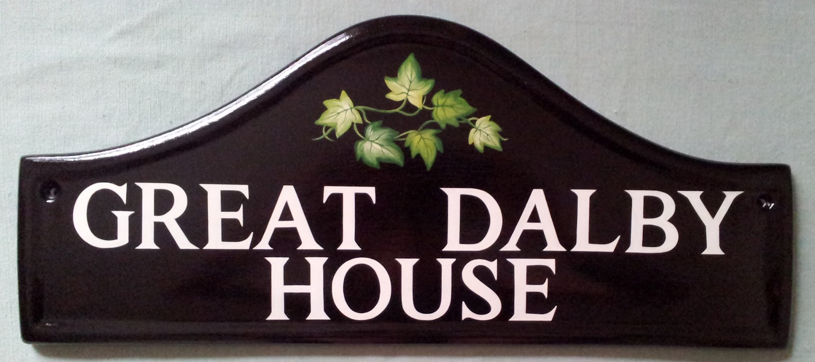 hand painted house signs by ceramic art latest signs. Black Bedroom Furniture Sets. Home Design Ideas