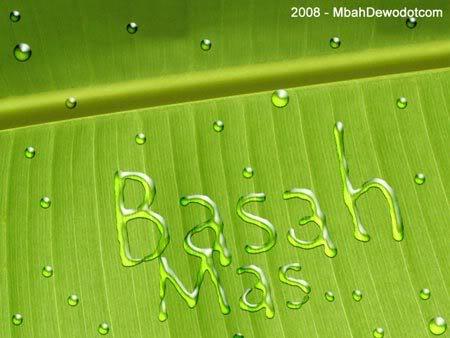 efek teks air hasil karya photoshop
