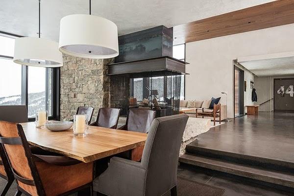 amenajari, interioare, decoratiuni, decor, design interior, cabana, munte,  sufragerie