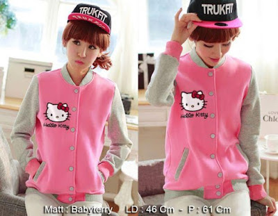 Jacket / Sweater Jaket Hello Kitty Kancing Pink - 10461