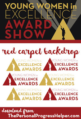 Young Women in Excellence Award Show Red Carpet Backdrop for Decoration!
