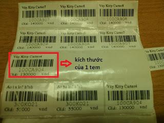 giấy in mã vạch cho cửa hàng, siêu thị