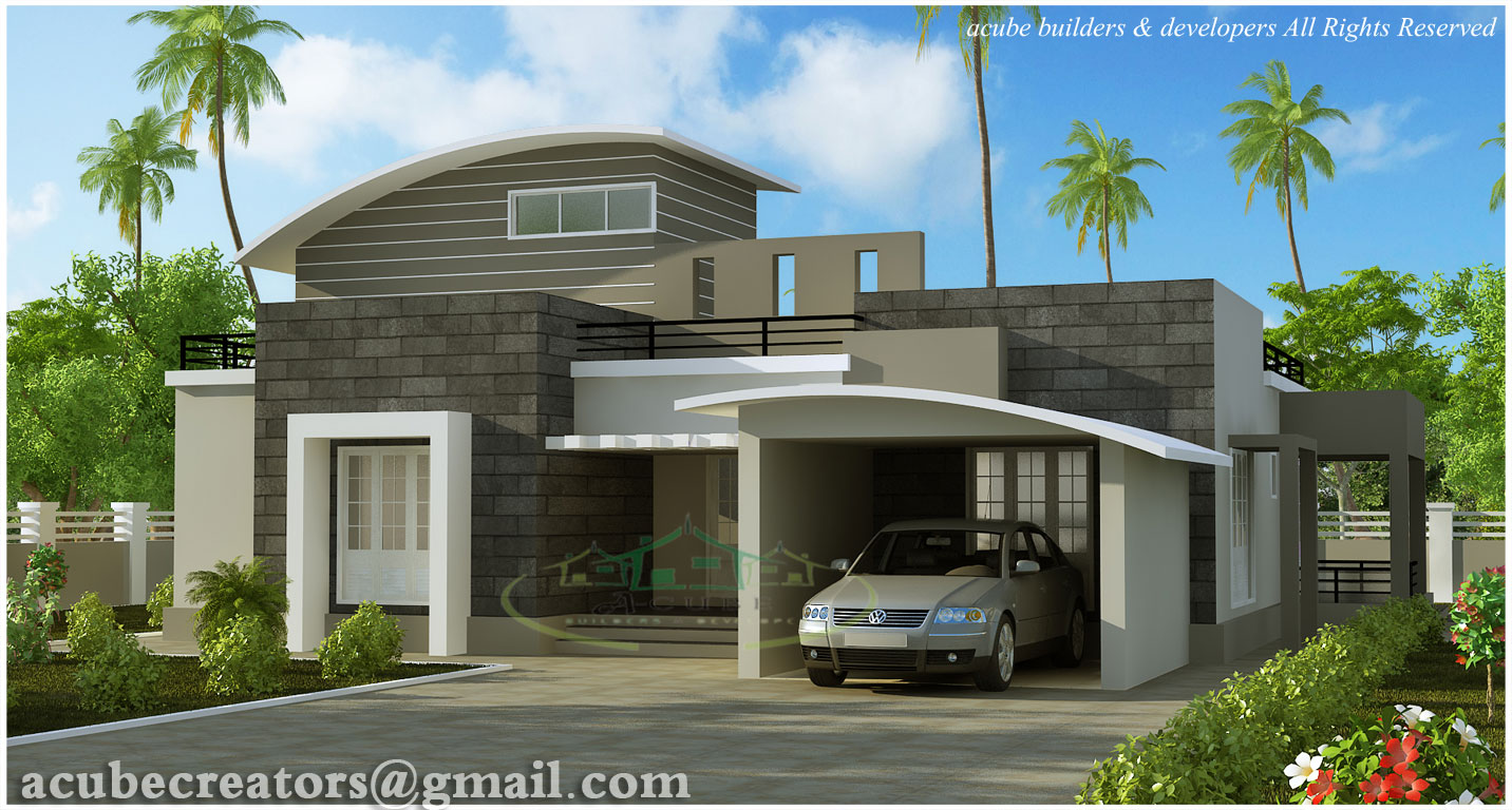 Modern contemporary villa 2476 sq ft plan 130