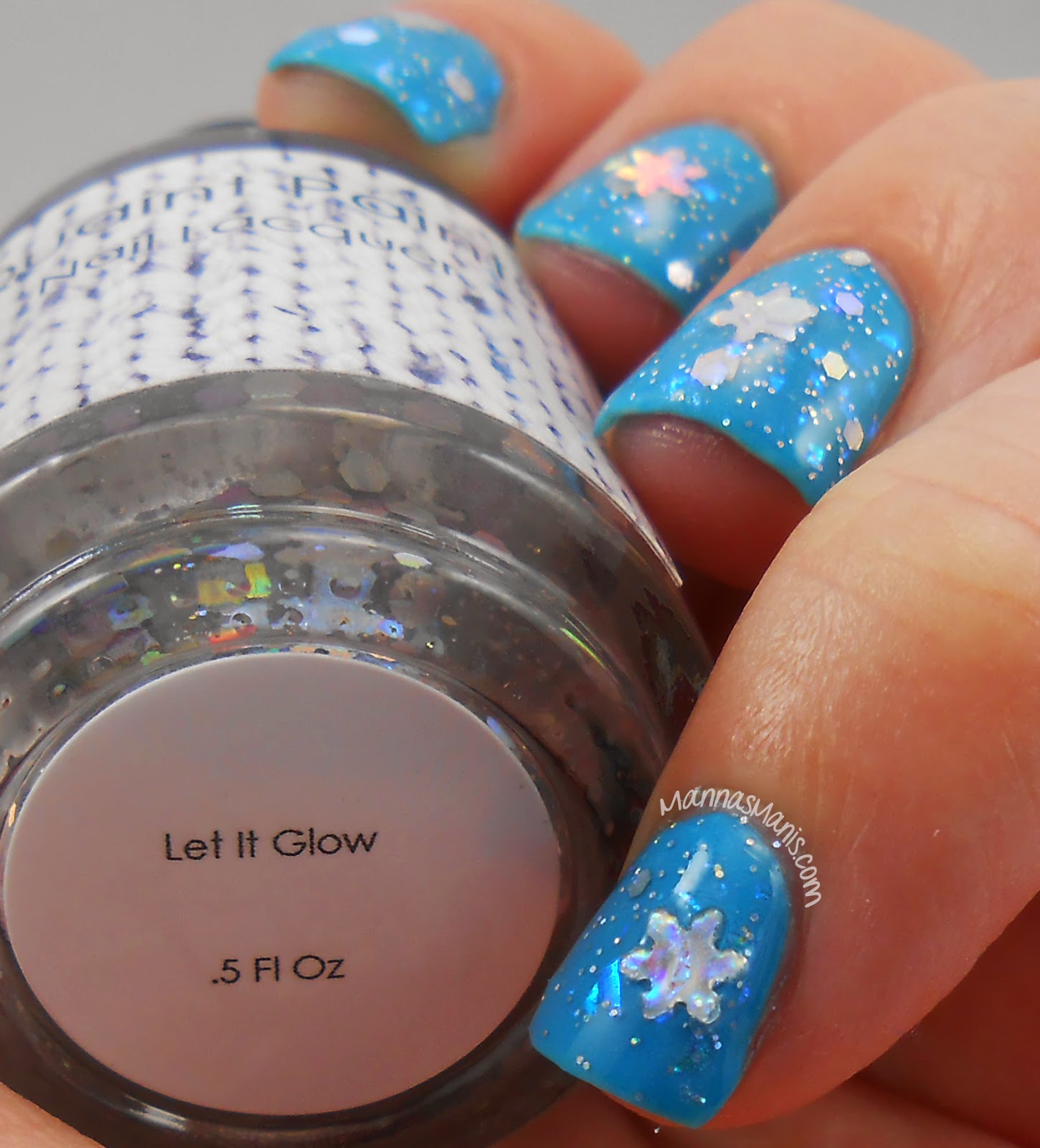 Quaint Paints let it glow, a glow in the dark nail polish