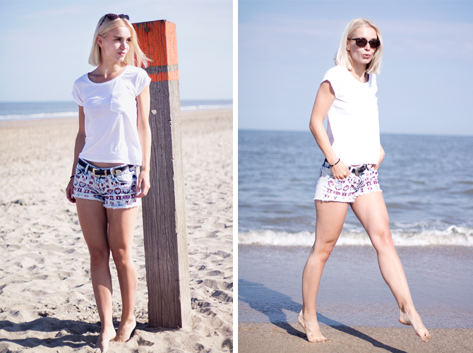 Fashion Attacks outfit ootd beach boohoo aztec shorts