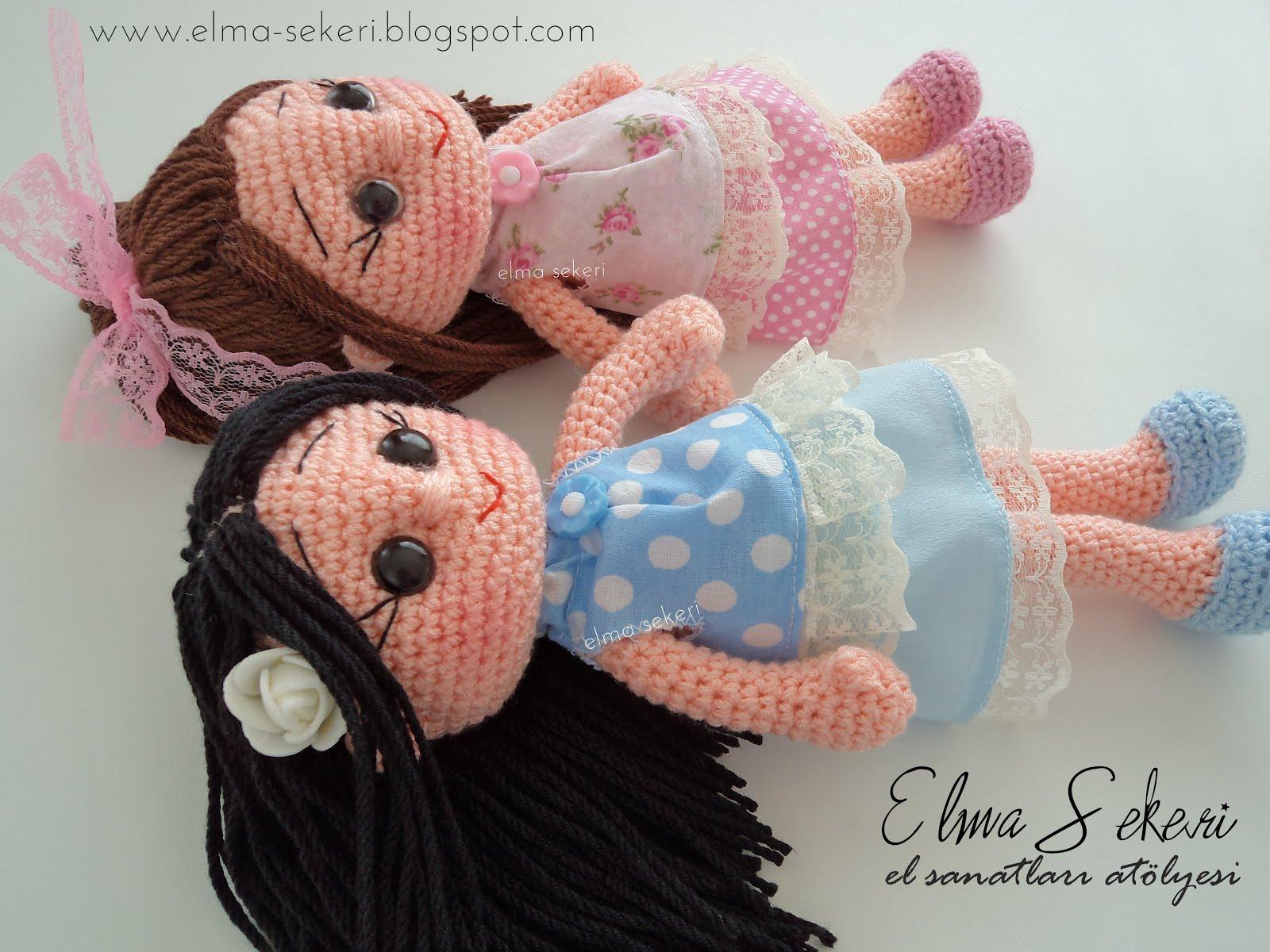 Amigurumi Bebekte Saç Yapımı : Amigurumi ahu bebek goz yapimi slugom for