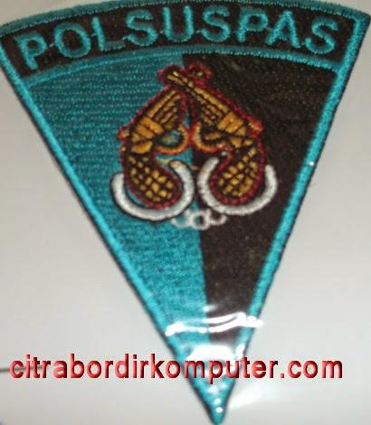 logo atribut bordir komputer POLSUSPAS