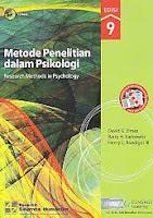 Judul Buku : METODE PENELITIAN DALAM PSIKOLOGI Research Methods in Psichology Edisi 9 Pengarang : David G. Elmes; Barry H. Kantowitz; Henry L. Roediger III Penerbit : Salemba Empat