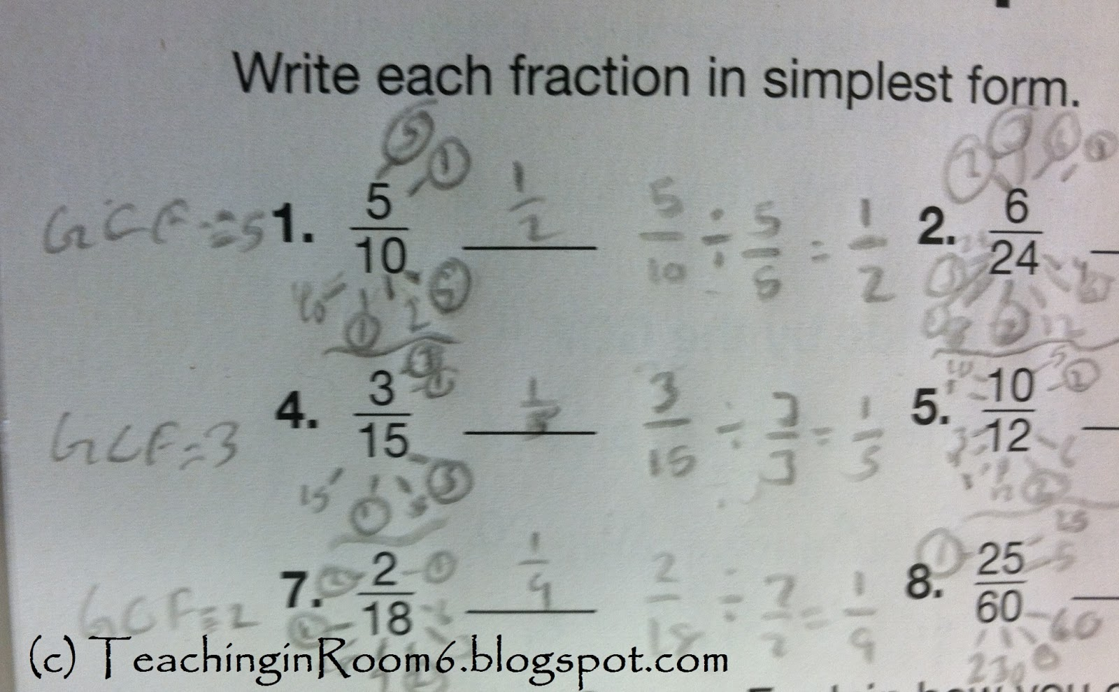 Simplifying Fractions...oh boy - Teaching in Room 6