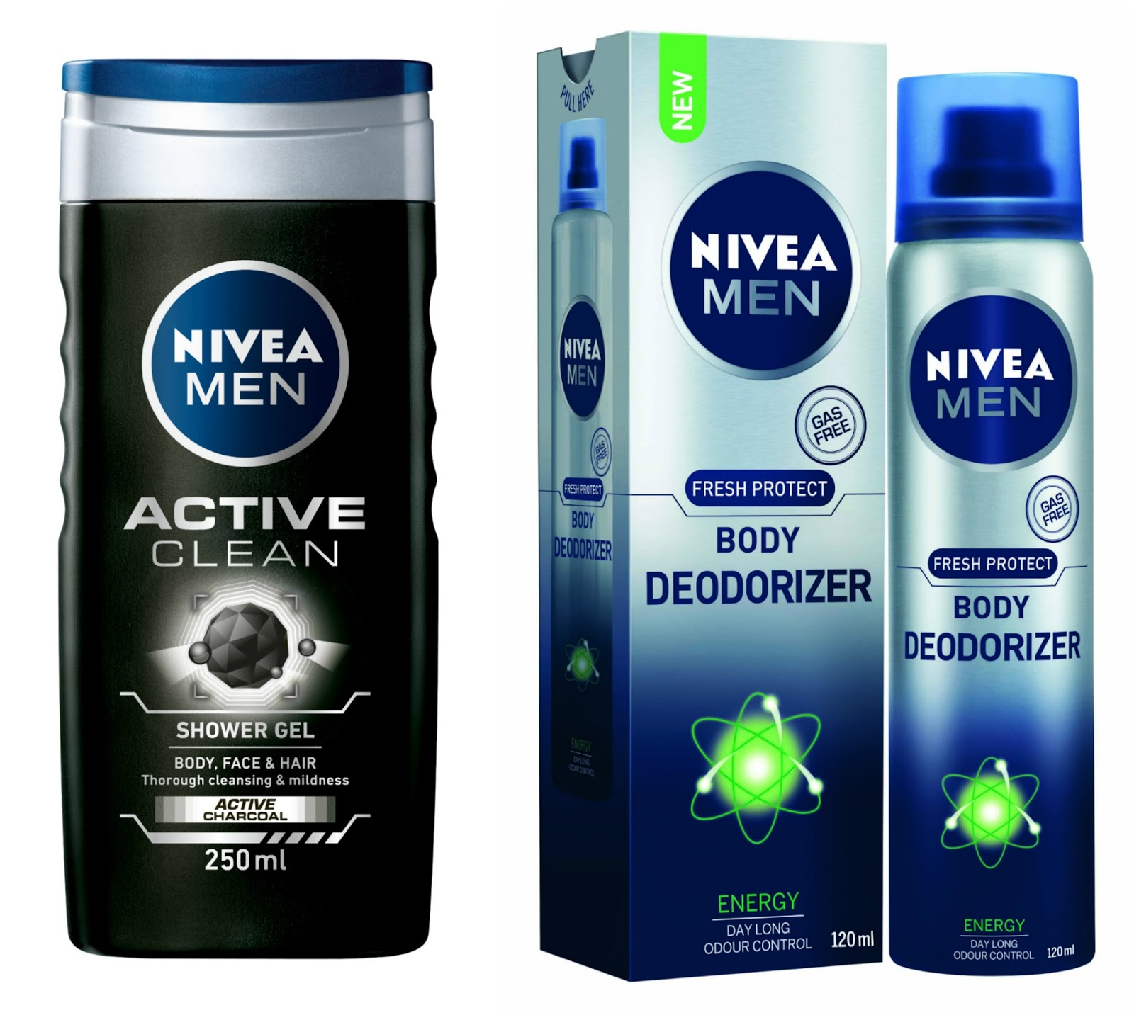 Awesome PR:Nivea Men Body Deodoriser U0026 Active Clean Shower Gel With Active Charcoal