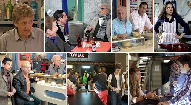 Diferentes bares a lo largo de la serie Cuéntame de TVE