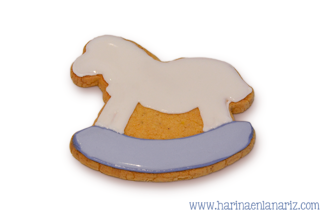 Galleta caballo balancin decorada con glasa