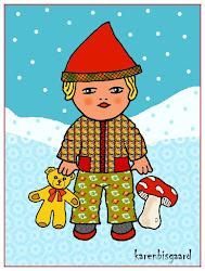 Jule postkort med Lars og Lise: