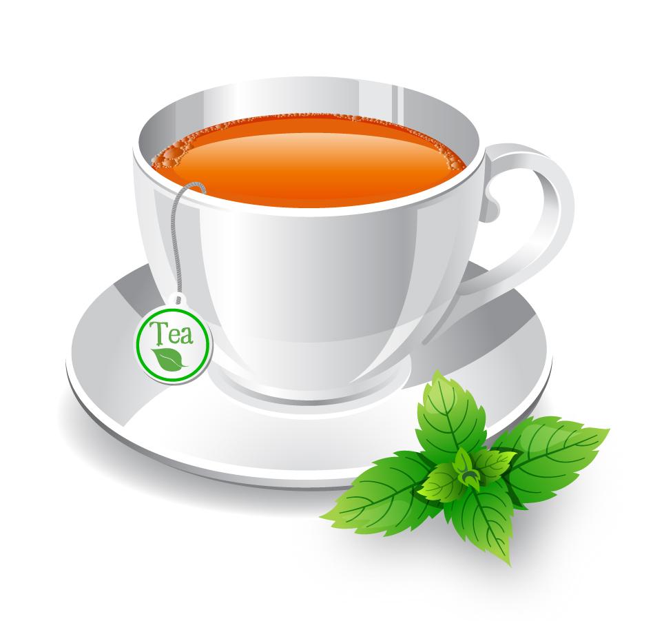ハーブ茶のクリップアート herb tea イラスト素材