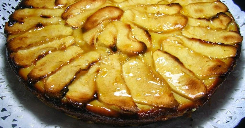 Pastel de manzana con corteza inferior