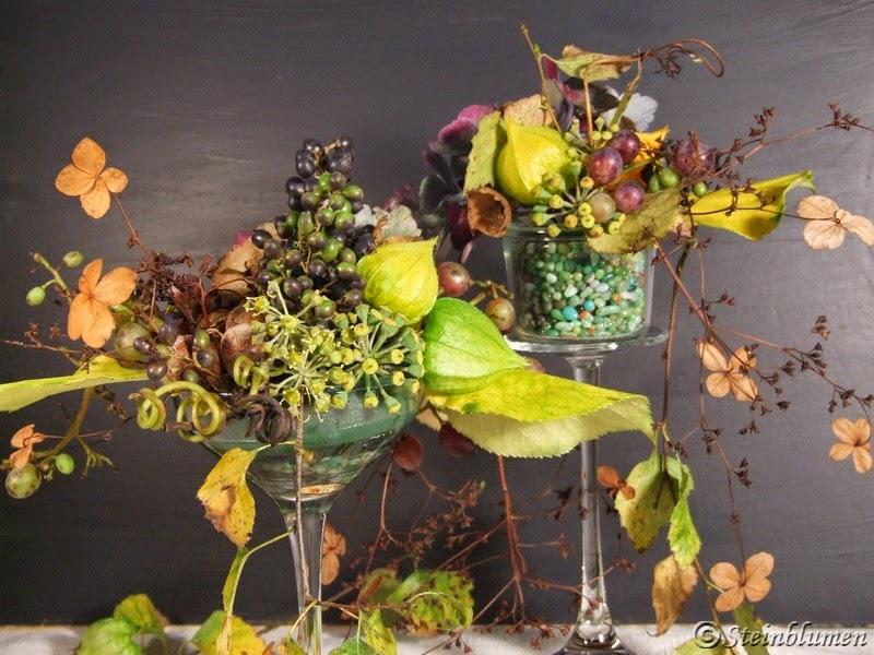 Herbstgestecke