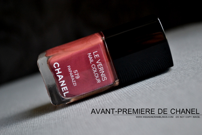 Chanel Nail Polish Paparazzi 579 Avant Premiere Makeup Collection Photos Swatches NOTD Review Indian Beauty Blog