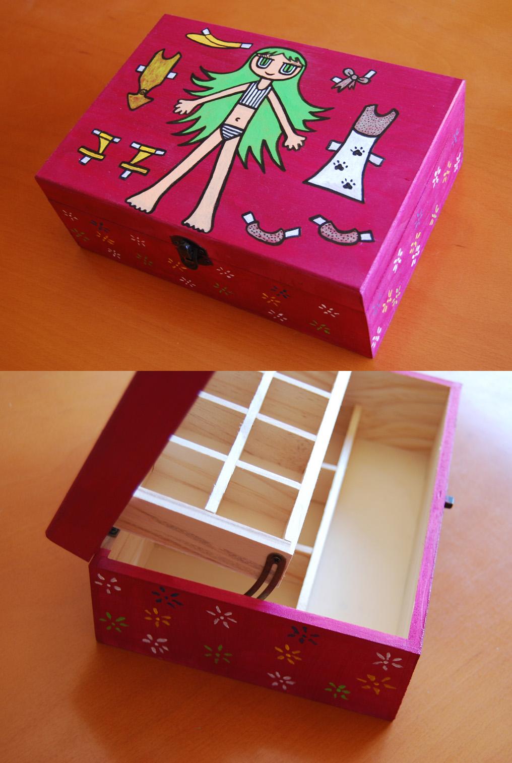 Animalbubble cajas de madera pintadas a mano Pintar caja madera
