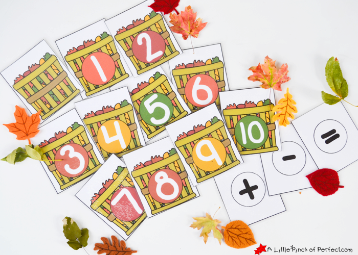 graphic regarding Fall Printable Activities referred to as Slide Leaf Math Pursuits and Free of charge Printable for Palms upon