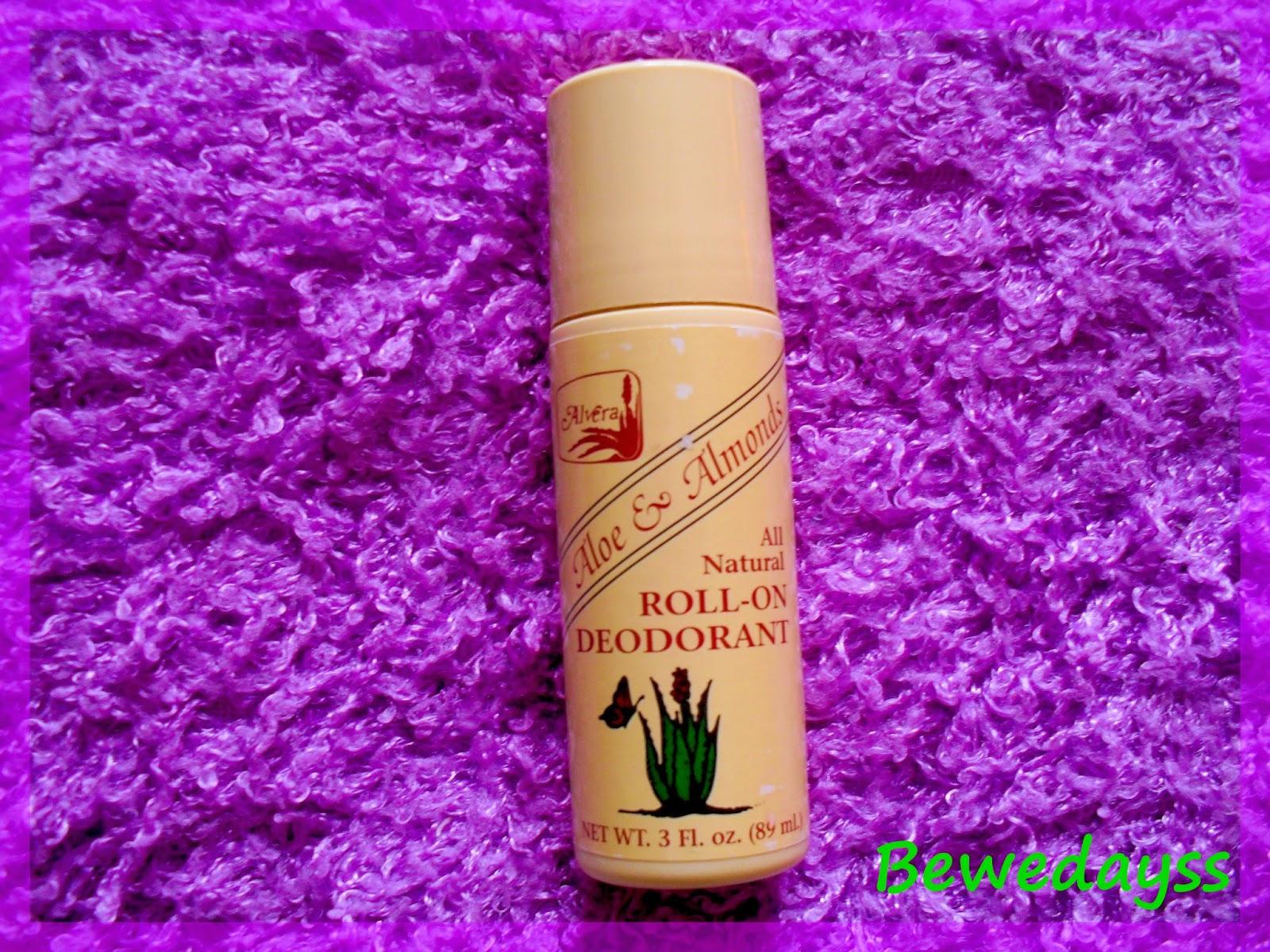 Alvera, Aloe & Almonds, Roll-On Deodorant