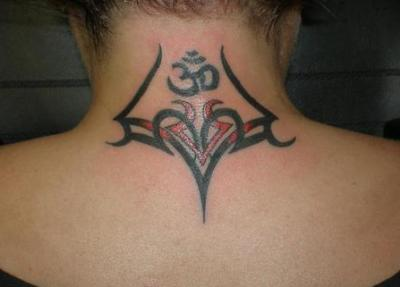 tribal neck tattoos