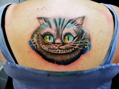 Tatuagem do Gato de Cheshire - ( Alice no País das Maravilhas )