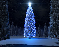 Free Download Christmas Blue Tree Wallpaper