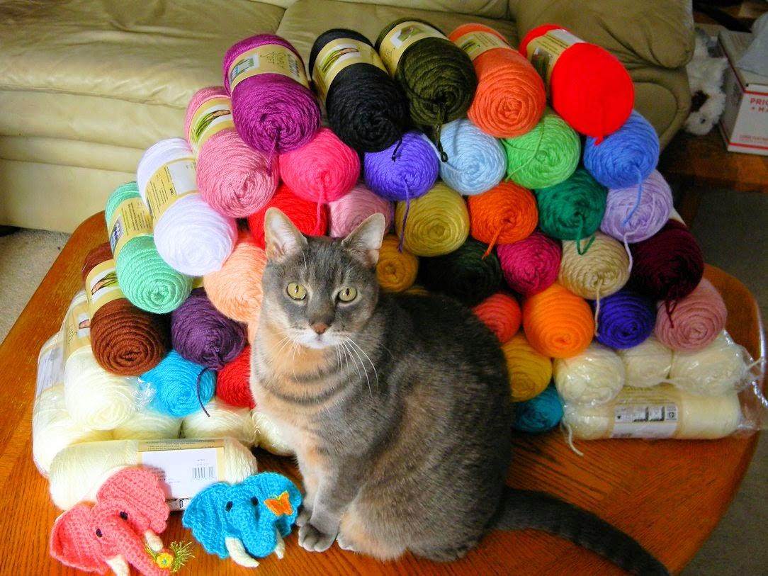 Yarn stash with YoYo